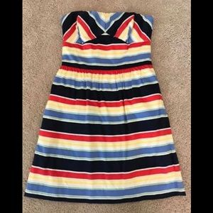 Women's Striped Strapless Dress